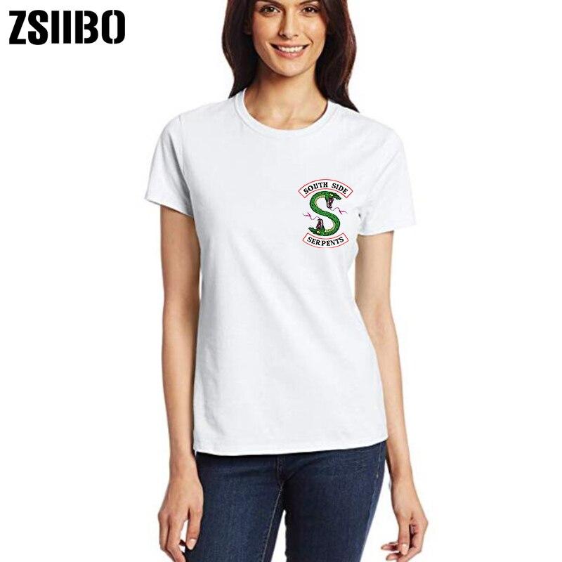 Women's Clothing Riverdale T Shirt Women Summer Harajuku Tops South Side Serpents Female T-shirt Riverdale Snake Printed Funny Vintage Tees Shirt Big Clearance Sale