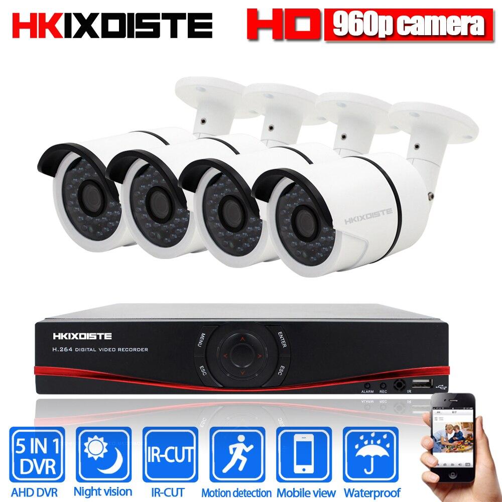 Plug&Play 1080P HDMI 1080N DVR AHD DVR 4CH CCTV System 960P HD 1.3MP Outdoor Security HD AHD Camera Surveillance Kit APP View