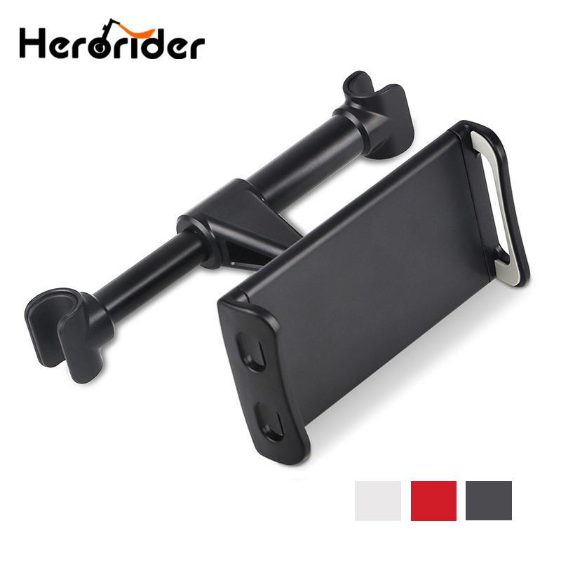 Rotatable Car Back Seat Headrest Mount Tablet Phone Bracket Holder Metal Tablets Stand Car use for iPad 7-10.1 inch Tablet PC