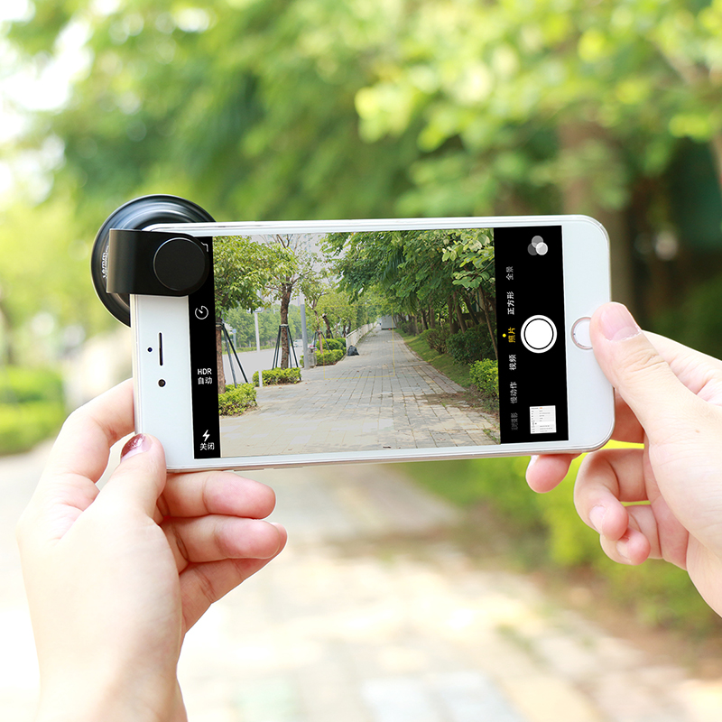 Mobile Phone Camera Lens Universal 4 in 1 Fish Eye Photo Lens for iPhone 6 7 Samsung Galaxy HTC Xiaomi Cell Phone Camera Lens - 3