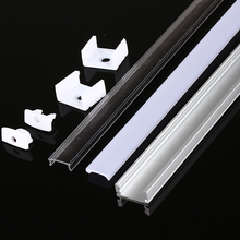 5-10pcs/lot 1M aluminum led profile for SMD5050/5630 led strip width 12mm LED Aluminum channel led light for Bar House Cabinet led aluminum profile for led strip 5050 5630 3528 led bar housing for rigid bar light with cover end caps clips cabinet channel
