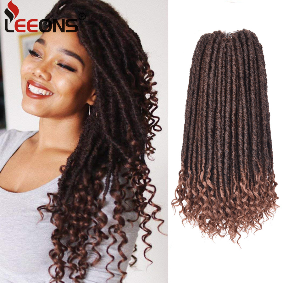 us $7.06 |leeons black/blonde 16 inch kanekalon braiding hair faux locs crochet hair goddess hairstyles synthetic braiding hair extensions on