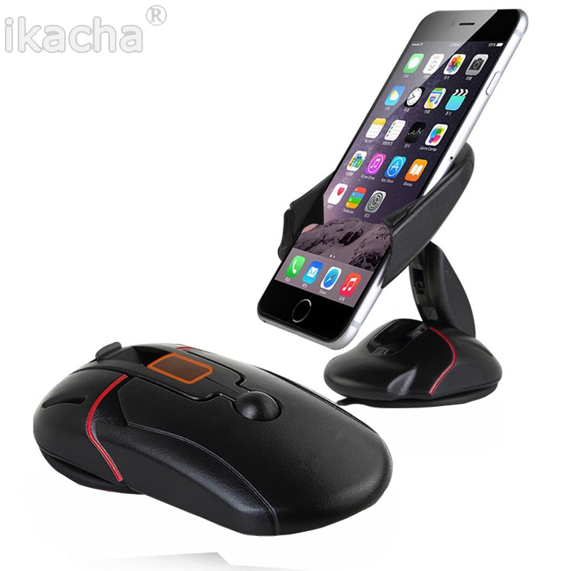 Mobile Car phone Holder 360 Degree Adjustable Support Foldable Mount Mouse Phone Holder For iPhone Samsung Huawei Xiaomi