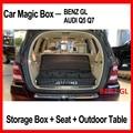 Multifuncional caixa de armazenamento de auto/seat/plataforma robusta de mesa dobrável portátil carro usado de pesca para benz gl audi q5 q7 bmw x3x5x6