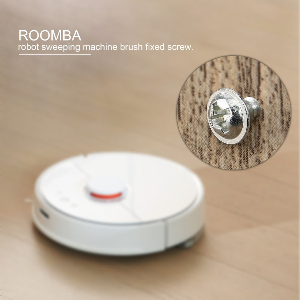 4 pcs Cleaning Sweeping Robot Fixed Screw Side Brush Screw Vacuum Cleaner Accessories Replace Parts For Roomba Replacement