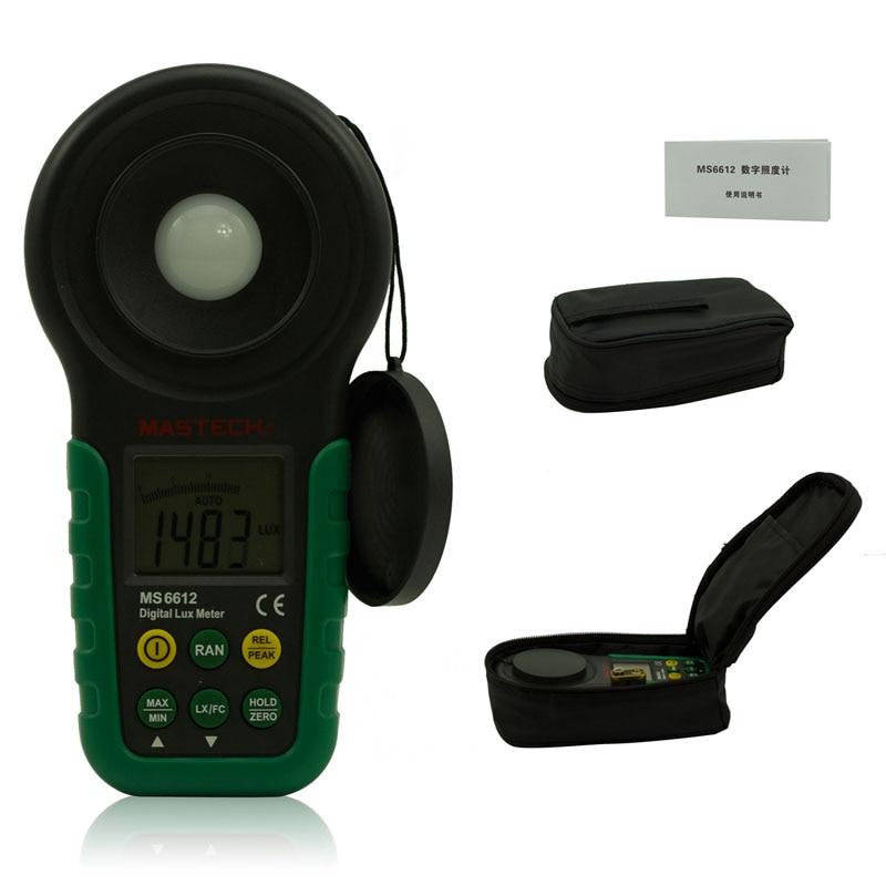 ФОТО Lux meter mastech ms6612 200,000 Lux Light Meter Test Spectra Auto Range High Precision Digital Luxmeter Illuminometer