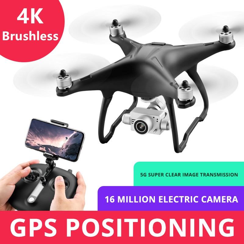 Gimbal 4 k hd 카메라 5g wifi fpv doul gps가 장착 된 profissional brushless drone quadcopter 23 분 비행 rc 헬리콥터 장난감-에서RC 헬리콥터부터 완구 & 취미 의  그룹 1