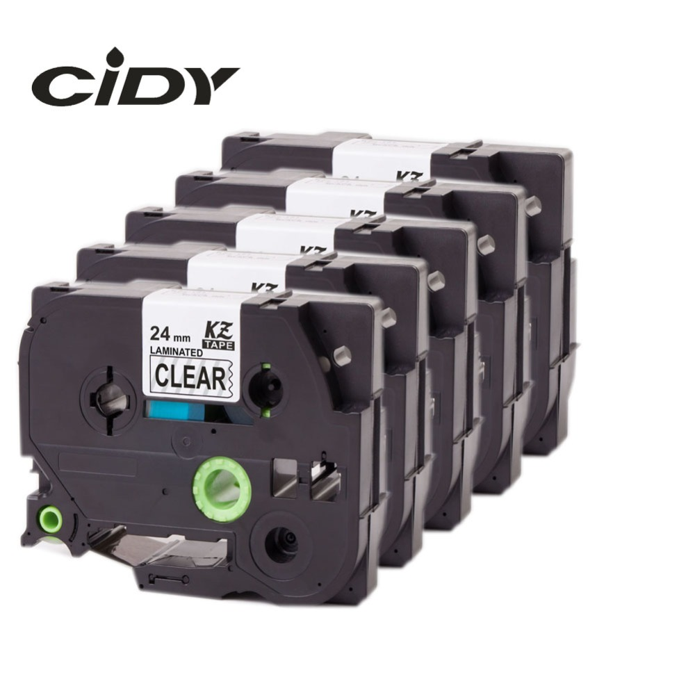 CIDY 5pcs Compatible p touch laminated tze 151 tz151 tz 151 tze151 tape 24mm Tape tze-151 tz-151 for brother printers cidy 5pcs compatible p touch laminated tze 251 tz251 tze251 tape 24mm black on white tape tze 251 tz 251 for brother printers