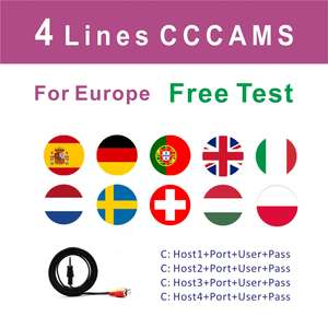 Tv-Receiver Server Cline Cccams Portugal Freesat V7s Satellite Spain Germany Europe