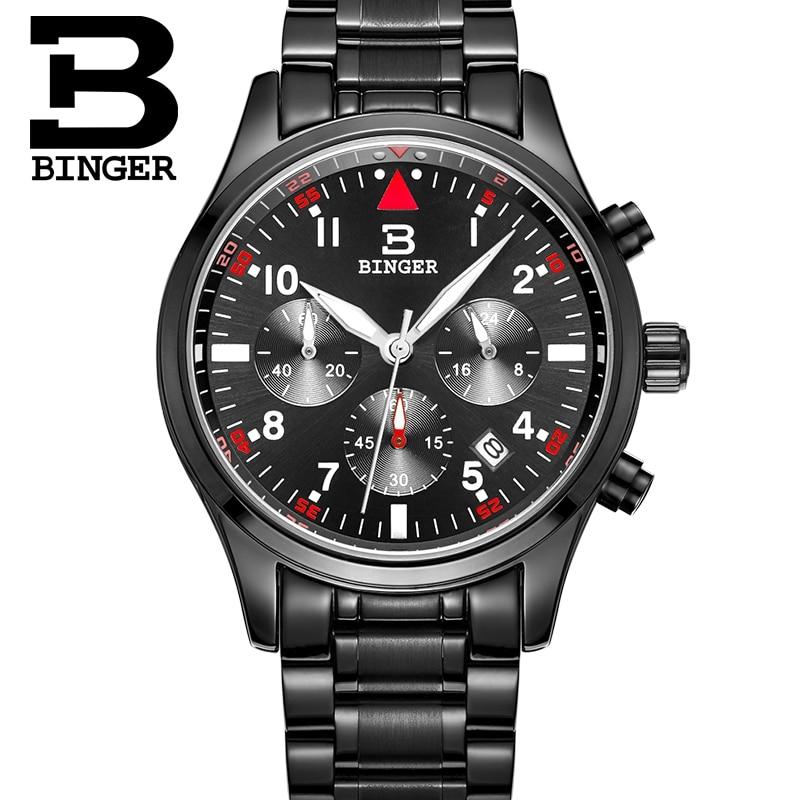 Relogio Masculino BINGER Luxury Brand Analog Sports Wristwatch Display Date Clock Men s Quartz Watch Business