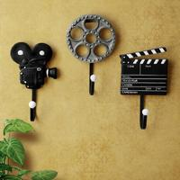 3 Pieces Set Hook Resin Process Film Equipment Set Coat And Hat Wall Home Decoration Movie Key Hook