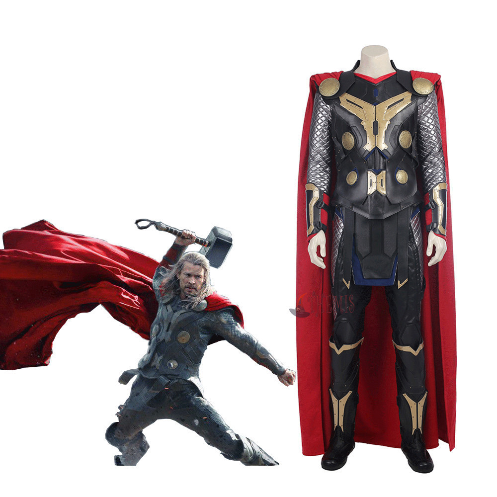 Athemis movie The Dark World  Thor Odinson cosplay Costume custom made set High Quality