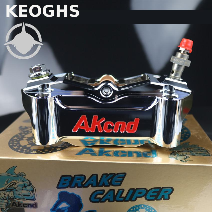 KEOGHS Motorcycle Brake Caliper Front Hydraulic Disc Brake 100mm Location Electroplated Color For Honda Yamaha Kawasaki Ducati keoghs motorcycle hydraulic brake system 4 piston 100mm hf2 brake caliper 260mm brake disc for yamaha scooter cygnus x modify