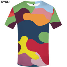 3d Tshirt Colorful Camo T-shirt Men Camouflage Printed Graffiti Shirt Print Military Tshirts Casual Gothic T-shirts