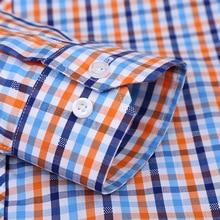 100% Cotton Men's Plaid Casual Shirts