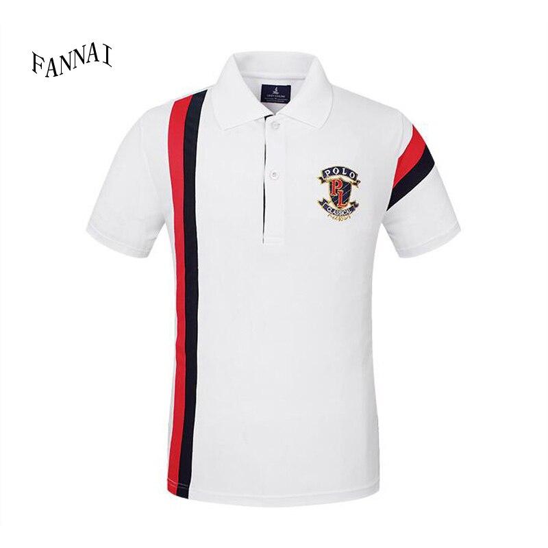 Ropa de marca Camisa de polo Sólido Casual Polo Homme para hombre Camiseta Tops Algodón de alta calidad Slim Fit 102TC