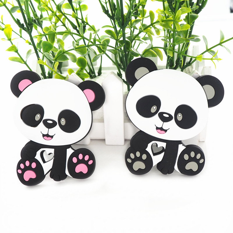 Baby Teether Pacifier Panda Teething Nursing Silicone BPA Free Chew Necklace Toy