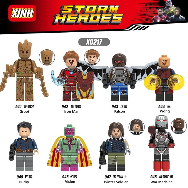 X0217 10sets Super Heroes Iron Man Series Wong Figures Bucky Collection Building Blocks For Children Toys
