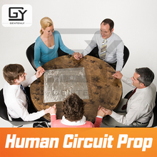 Juego de sala de Escape de circuito humano, accesorio de sala de estar para sala de estar, juego de mano para desbloquear