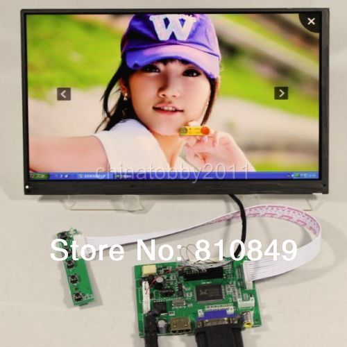 HDMI+VGA+2AV Controller board+10.6inch LTL106AL01 1366*768 IPS HD Lcd panel screen model lcd for Raspberry Pi  hdmi vga av audio usb fpv control board 14inch ltn140at26 lp140wh1 1366 768 lcd screen model lcd for raspberry pi