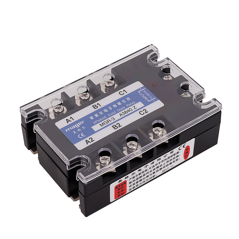 40A AC control AC SSR Three phase Solid state relay (MGR-3 A4840 Z) 70-280VAC to 480VAC Free shipping With protective covers40A AC control AC SSR Three phase Solid state relay (MGR-3 A4840 Z) 70-280VAC to 480VAC Free shipping With protective covers