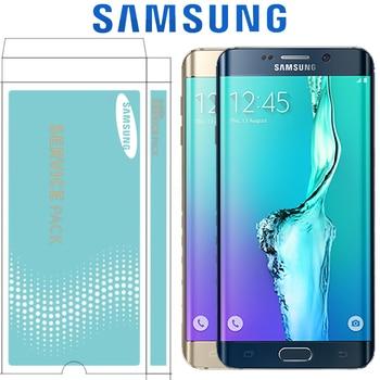 """ORIGINAL SUPER AMOLED 5,7 """"LCD con marco para SAMSUNG Galaxy s6 edge plus pantalla G928 G928F MONTAJE DE digitalizador con pantalla táctil"""