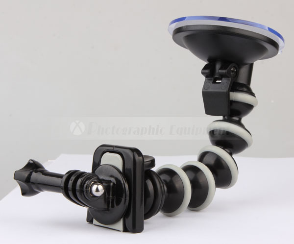 Flexible Gooseneck Car Sucker Mount Holder for Gopro Hero 5 4 3 HD SJ4000 SJ5000 SJ6000 Mini Camcorder Camera Accessories