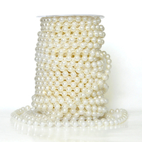 Metable 20m 8MM Pearl Beads Garland Wedding Centerpiece Event Table Decoration Chandelier Cake chair Decor DIY Crafting 2 color