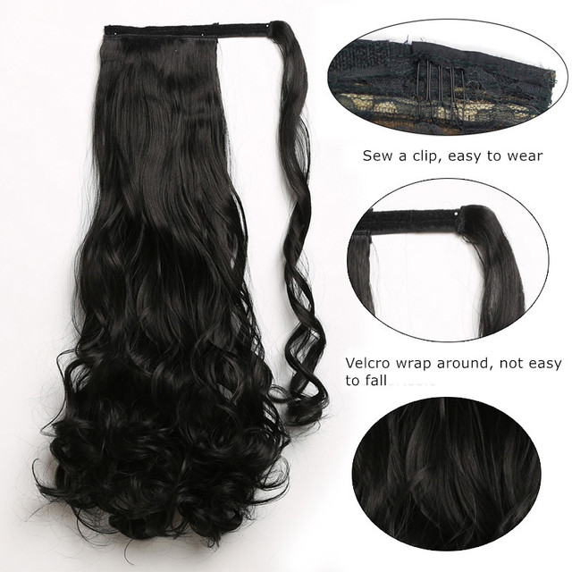 Wavy High Temperature Fiber Long Synthetic Hair Pieces