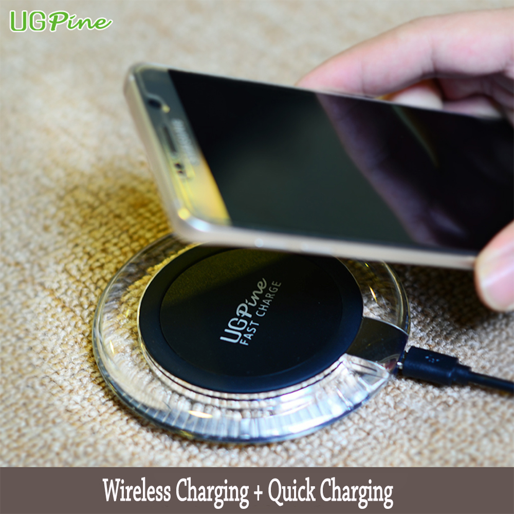 UGpine Qi Fast Wireless Charger 9V 1 8A Wireless Charging Adapter for Samsung Galaxy S7 S6