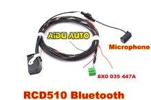 PARA VW Bluetooth Mazo de cables cable 8X0035447A Para RNS510/RCD510 Tiguan GOLF GTI Jetta Passat CC Con Micrófono 8X0 035 447 un