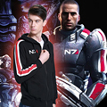 NEW Mass Effect 3 N7 Cosplay Hoodie Coat Costume unisex zipper Jacket S-XXL sweatshirt