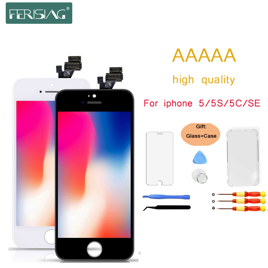 FERISING 100% AAAA <font><b>Original</b></font> <font><b>LCD</b></font> Screen For <font><b>iPhone</b></font> <font><b>5S</b></font> 5 SE 5C Screen <font><b>LCD</b></font> Display Digitizer Touch Module <font><b>5S</b></font> SE Screens Replacement image