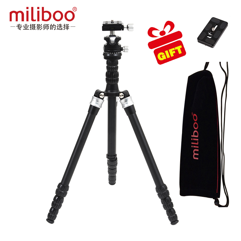 miliboo MEA Promotion lightweight Travel Mini Portable Camera Aluminum Carbon Tripod Stand with Ball Head stylish golden hollow rounded rectangle hasp bracelet for women