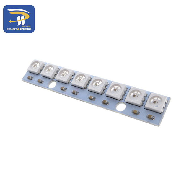 8 channel WS2812 WS2812B WS 2811 5050 RGB LED Lamp Panel Module 5V 8 Bit Rainbow LED Precise for Arduino