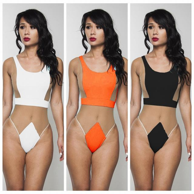 2aa550bb171d1 Women Sexy Mesh One Piece Swimsuit Transparent Monikinis Brazilian Bathing  Suit Backless Beach Wear Cloth 1038