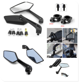 2pcs 8MM 10MM modified universal motorcycle rearview mirror for BMW C600Sport C650Sport C650GT F650GS F700GS F800GS image
