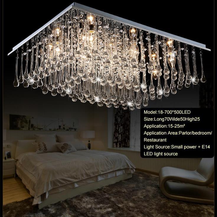 moderna flush mount led araa de cristal de techo lmparas lampshade crystal lmpara de techo de