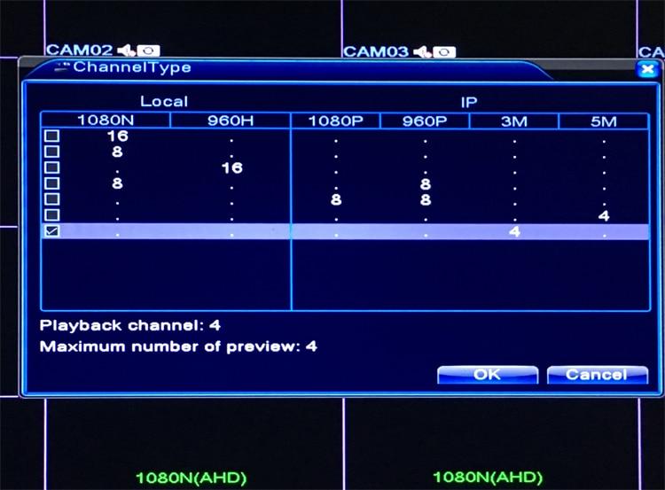 1080P 2mp CCTV Camera XMeye Hi3521A 16 Channel 16CH 1080N 6 in 1 Hybrid Wifi XVI TVi CVI NVR AHD DVR Surveillance Video Recorder menu picture 05