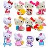 6pcs Hello Kitty Mini Model Set Miniature PVC Garden Figures Cartoon Figurines Dolls Cake Toppers Decor Kids Toys wholesale