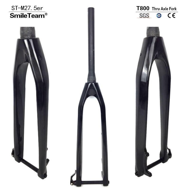 Full Carbon 26er/27.5er/29er Downhill Bicycle Fork Rigid Mountain Carbon Forks,100*15mm Thru Axle UD Black Bicycle Carbon Forks zota carbon 20