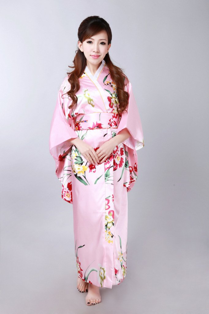 973898216bd Exquisite Japan Kimono dress in pink