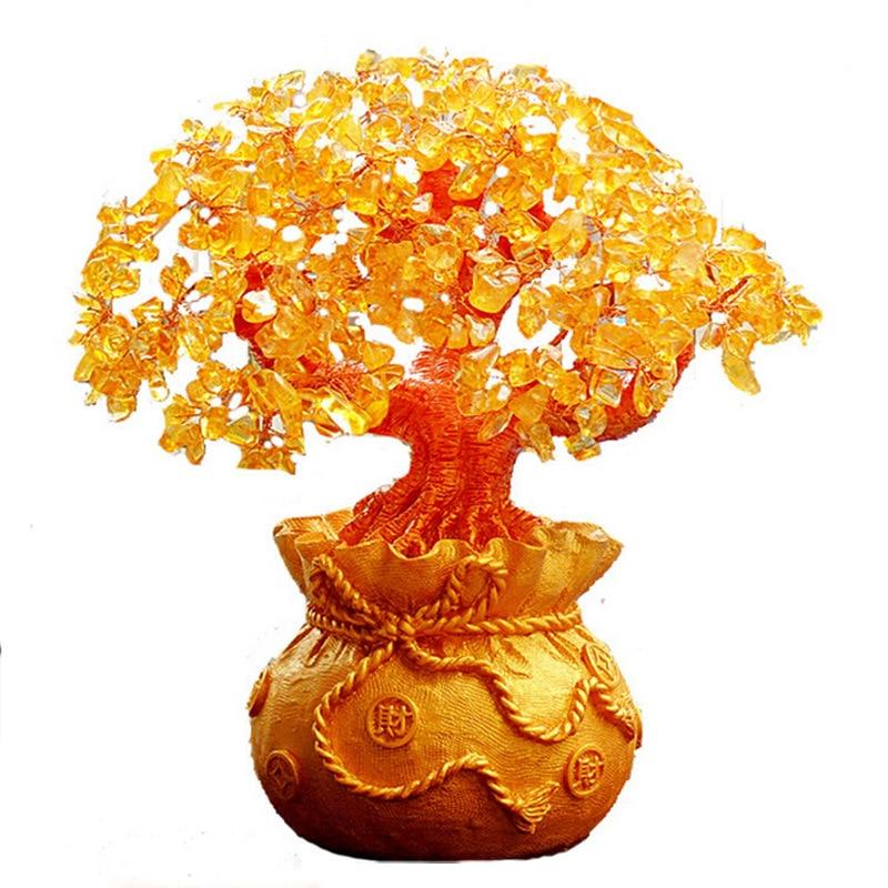 Dyqan me shkëlqim Citrine Lule Tree Hapja e Dhuratave Dekorative - Dekor në shtëpi - Foto 1