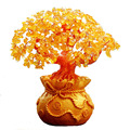 Shiny Citrine Lucky Tree Store Opening Decorative Gifts Exquisite Buddhist Shaking Money Tree Avoiding Evils Home Decoration