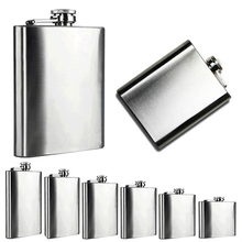 New Hot sale Portable 4 5 6 7 8 10 Oz Stainless Steel Hip Liquor Whiskey Alcohol Flask Cap 3YN A789