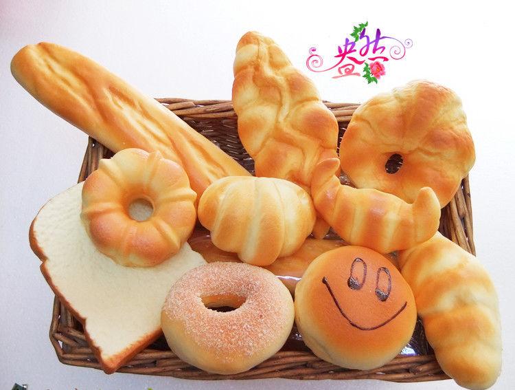 10 개 과자 현실적인 느낌 냄새 소품 환경 친화적 인 인공 빵 농담 장난감 부드러운 거품 홈 장식