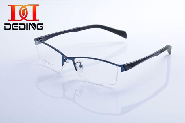 Tent DeDing nuevo diseño con estilo de Metal Rectangular TR90 marco del cuerno del buey brazo brazo en forma de gafas enmarcan gafas de Grau Masculino DD1108