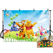 купить MEHOFOTO Vinyl Photography Backdrops for Winnie Pooh Theme Photo Studio Background Background Photography for Photo Studio дешево