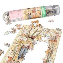 150Pcs/Set Mini Sunrise Jigsaw Puzzles with Tube Bottle Blueprint Baby Toys Montessori Wooden Puzzle Education Toys for children
