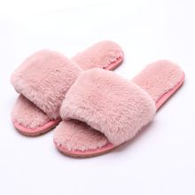 Women Winter Slippers House Faux Fur Soft Fashion Female Slide Plush Slippers Fluffy Flip Flop Furry Mule Lady Shoes Indoor Warm